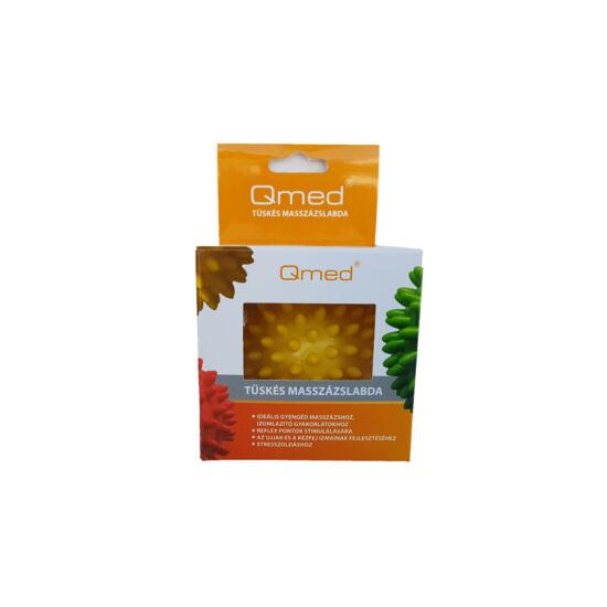QMED Tüskés masszázslabda - sárga - 8 cm