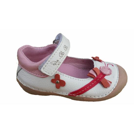 D.D.Step fehér baba szandálcipő