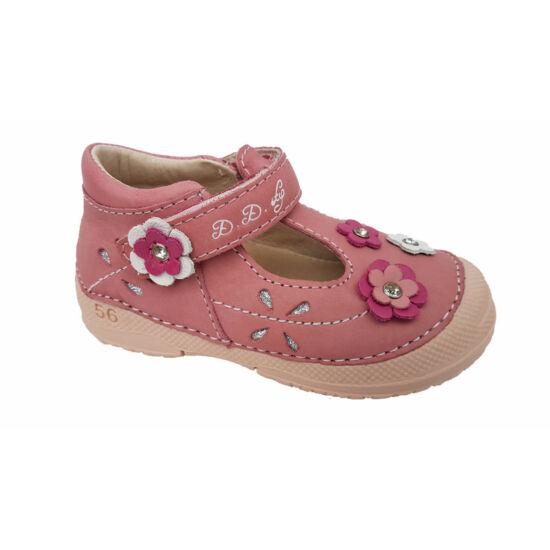 D.D. Step kislány szandálcipő, virágokkal