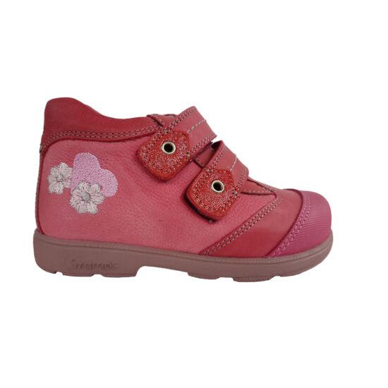 Szívecskés virágos Szamos supinált cipő