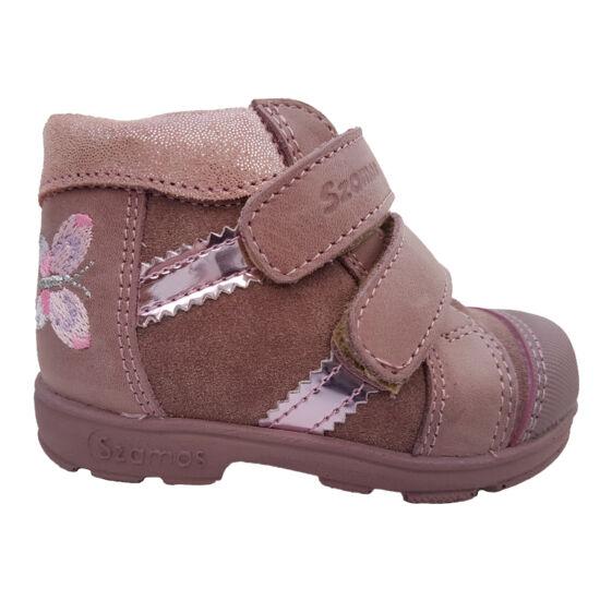 Pillangós pink Szamos supinált cipő