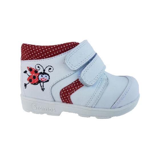 Katicás, fehér Szamos supinált cipő
