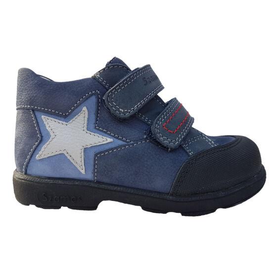 Kék csillagos Szamos supinált fiú cipő