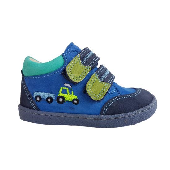 Kék traktoros Szamos első lépés fiú cipő