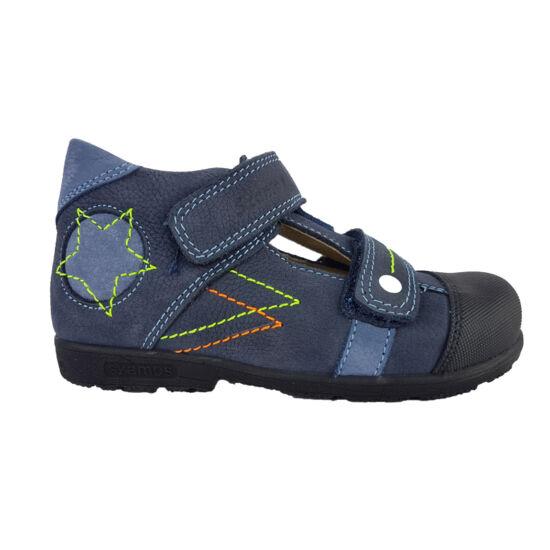 Kék csillagos Szamos supinált szandálcipő