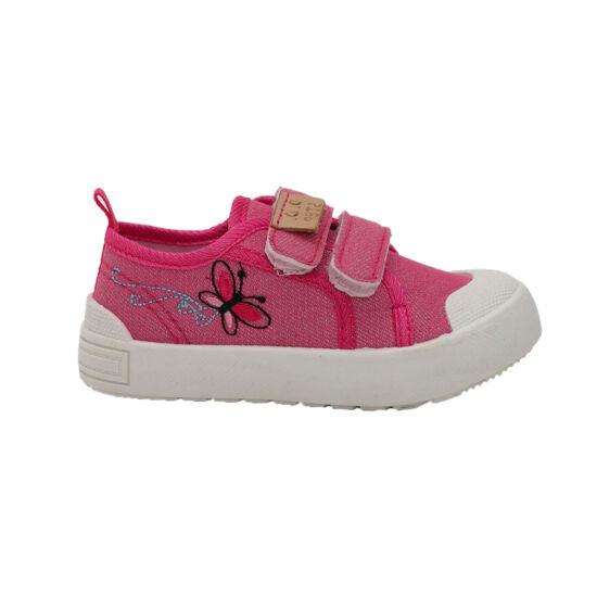 Pillangós DD Step kislány vászoncipő, benti ovis cipő