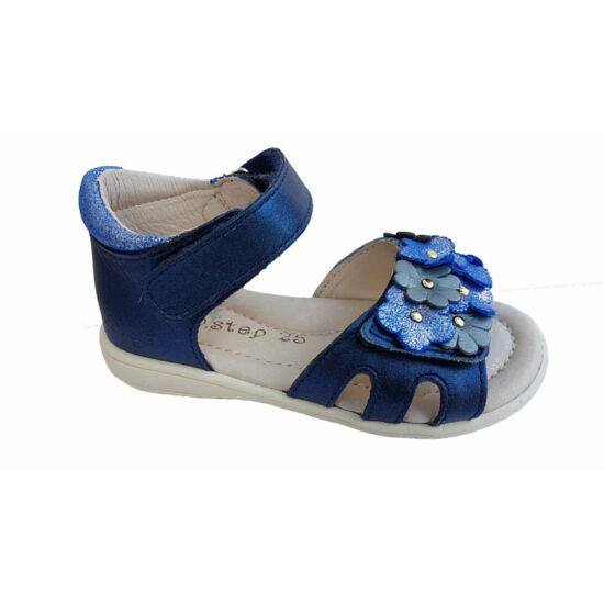 Kék virágos DD Step kislány szandál