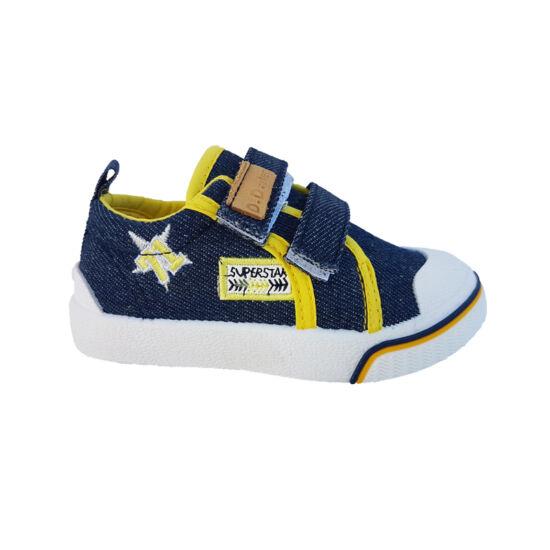 Kék-sárga  DD Step fiú vászoncipő