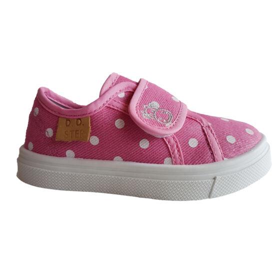 Pöttyös DD Step kislány vászoncipő