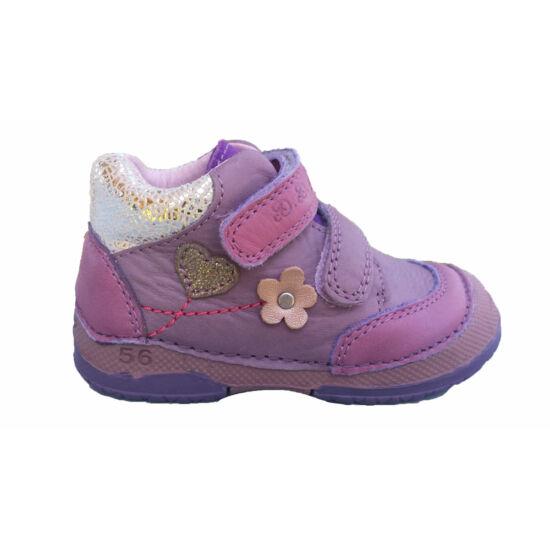 D.D.Step cipő, szíves-virágos