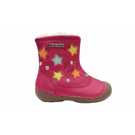 D.D.Step gyerek csizma lányka, pink-csillagos