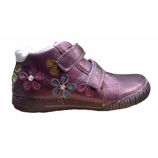 D.D.Step lány cipő, viola szín- színes virágokkal