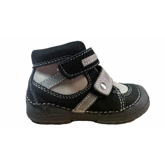 DD Step fekete-szürke fiú őszi cipő