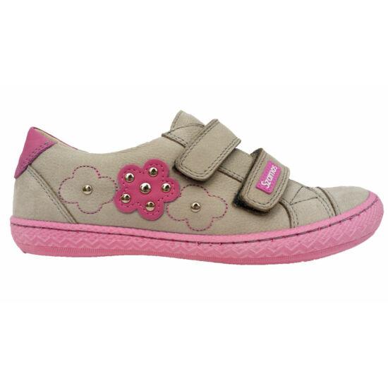Szamos gyerekcipő, lila-pink