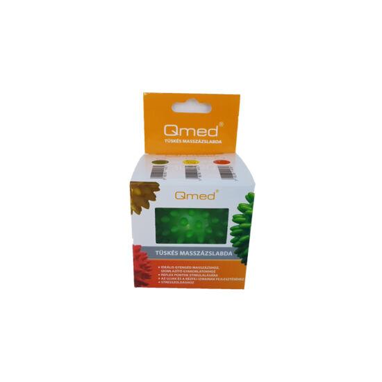 QMED Tüskés masszázslabda - zöld - 7 cm