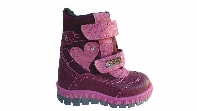 Szamos téli gyerek cipő, kislány vízálló bakancs