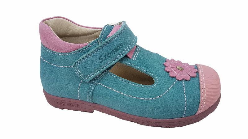 Kék pink Szamos supinált szandálcipő