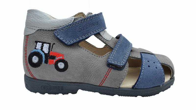Szamos sötétkék, traktoros szupinált szandál Cipők