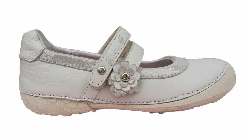 akciós : Bőr balerina cipő, fehér. D.D.STEP 026 47.