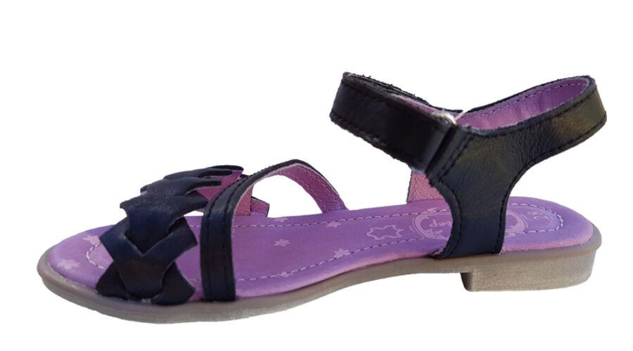 Fekete DD Step kislány szandál K356-6001A - gyerekcipoabc.hu 7935d24a22